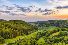 Fantastic Franconian Spring Landscape Stock Photo