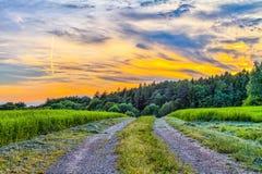 Fantastic Franconian Spring Landscape Stock Photography