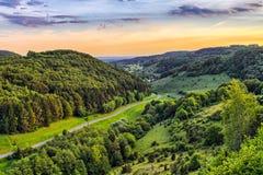 Fantastic Franconian Spring Landscape Royalty Free Stock Image