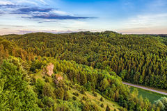 Fantastic Franconian Spring Landscape Royalty Free Stock Photography