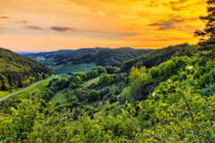 Fantastic Franconian Spring Landscape Royalty Free Stock Photo