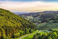 Fantastic Franconian Spring Landscape Royalty Free Stock Images