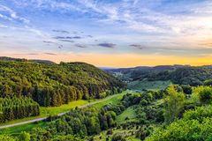 Fantastic Franconian Spring Landscape Royalty Free Stock Photos