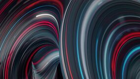 Fantastic futuristic background with twisted substances colored in neon lights. Animation. Energy impulses running fast