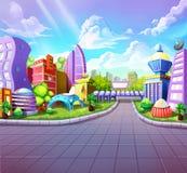 Fantastic Futuristic City Stock Photography