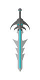 Fantastic Game Sword Model Vector in Flat Design. Royalty Free Stock Photography