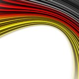 Fantastic german colors for sport events. With space for your text Stock Photo
