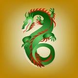 Fantastic green dragon Royalty Free Stock Photos
