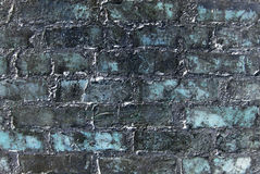 Fantastic grunge wall. Abstract old blue grunge wall. Textured background Stock Photography
