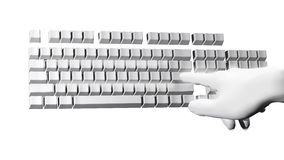 Fantastic hand over the computer keyboard Royalty Free Stock Photo