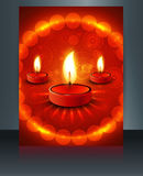 Fantastic happy diwali brochure card template  Royalty Free Stock Image