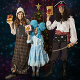 Fantastic heroes family Stock Photography