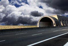 Fantastic highway with clouds. A fantastic highway with clouds Stock Image