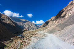 Fantastic himalayas mountains landscape. Picture taken during bicycling trip in autumn. Himalayas, India Royalty Free Stock Photo