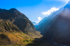 Fantastic himalayas mountains landscape. Picture taken during bicycling trip in autumn. Himalayas, India Stock Photos