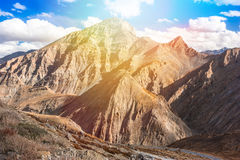 Fantastic himalayas mountains landscape. Picture taken during bicycling trip in autumn. Himalayas, India Stock Image