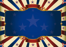 Fantastic horizontal patriotic background. A patriotic background of USA for your advertising. Perfect size for a screen Stock Image