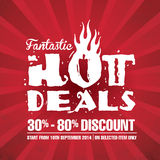 Fantastic Hot Deals Stock Photography
