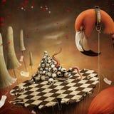 Fantastic illustration witn  Flamingo Royalty Free Stock Photos