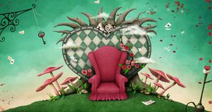 Fantastic illustration Wonderland Royalty Free Stock Photo
