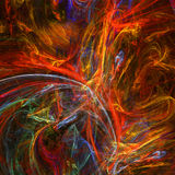 Fantastic infernal hell. Rendered background pattern royalty free illustration