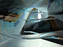 Fantastic interior 2. Abstract architectural alien form Stock Image