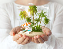 Fantastic island Stock Photo