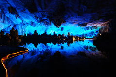 Fantastic karst cave Stock Images