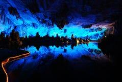 Fantastic karst cave. China national karst cave - Lu Di Cave Stock Images