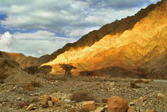 Fantastic landscape. The mountains brightly shined by the sun about Eilat in Israel royalty free stock photography