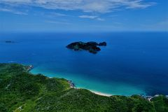 Cabo Frio, Brazil: View of beautiful island with crystal water. stock image