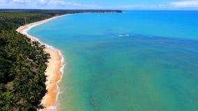 Caraíva, Bahia, Brazil: View of a deserted beach. Paradise. Fantastic landscape. Great beach view. Caraíva, Bahia, Brazil. Great colors and contrast stock photography
