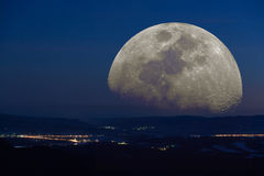 Fantastic landscape moon Royalty Free Stock Photos
