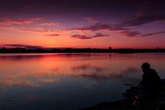 Fantastic landscape, multicolor sky over the lake. majestic sunrise. use as background. color in nature. Fantastic landscape, multicolor sky over the lake stock image