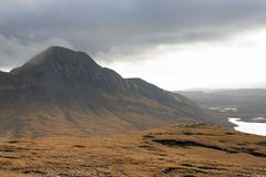Fantastic landscape near Stac Pollaidh Stock Images