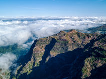 Fantastic Landscape Rocky Mountains with Clouds Madeira Island Royalty Free Stock Photos