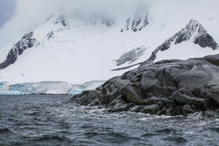 Fantastic landscapes of beautiful snow-capped mountains, Antarctica Stock Images