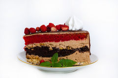 Fantastic layered cake with roses3 Royalty Free Stock Photography