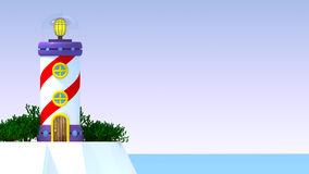 Fantastic lighthouse 3d_02 Royalty Free Stock Image