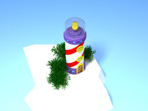 Fantastic lighthouse 3d Stock Images