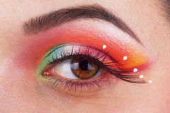 Fantastic make up eye Royalty Free Stock Photo