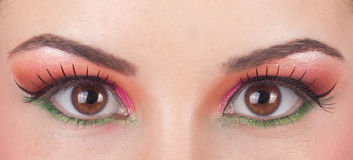 Fantastic make up eye. Royalty Free Stock Photo