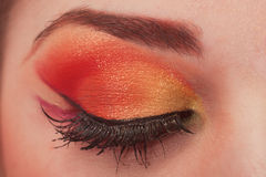 Fantastic make up eye. Royalty Free Stock Photography