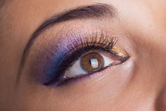 Fantastic make up eye Stock Images