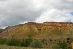 Fantastic Martian landscape. Mars. Red mountains. Stock Image