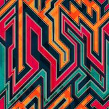 Fantastic maze seamless pattern Stock Image