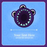 Fantastic monster vector background Royalty Free Stock Images