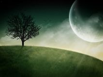 Fantastic moon rising Stock Photos