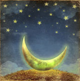 Fantastic moon and stars Stock Photo