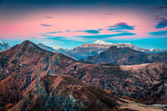 Fantastic morning view from the top of Giau pass. Stock Images